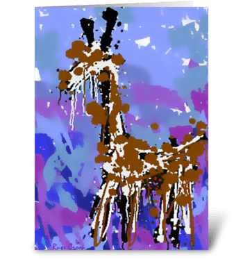 A Giraffe named Bob greeting card