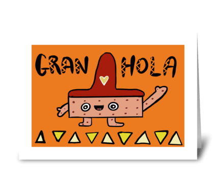 Gran-Hola Bar! greeting card