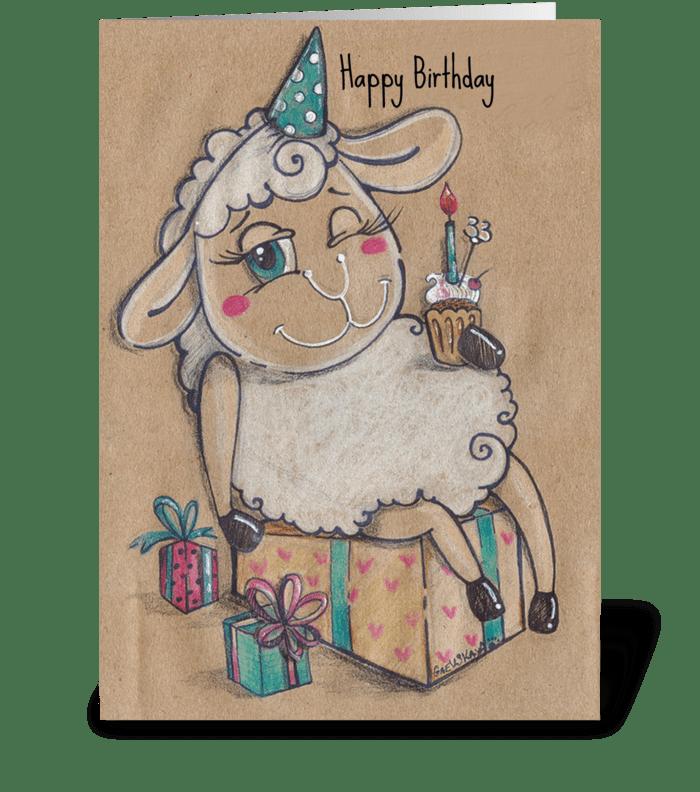 С днем рождения greeting card