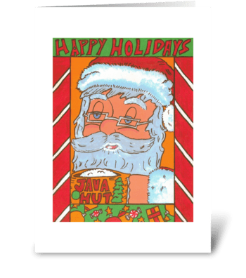 Java Santa greeting card