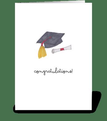 graduation cap greeting card
