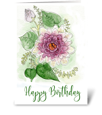 Zinnia Flower greeting card