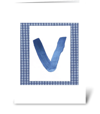 V - Baby Boy greeting card