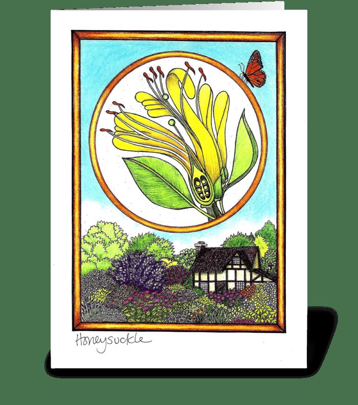 Honeysuckle greeting card