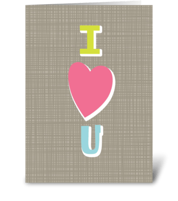 I Heart U greeting card