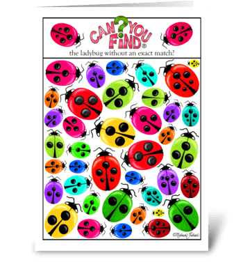 Ladybug Birthday Card greeting card
