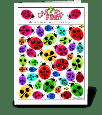 Ladybug Birthday Card greeting card