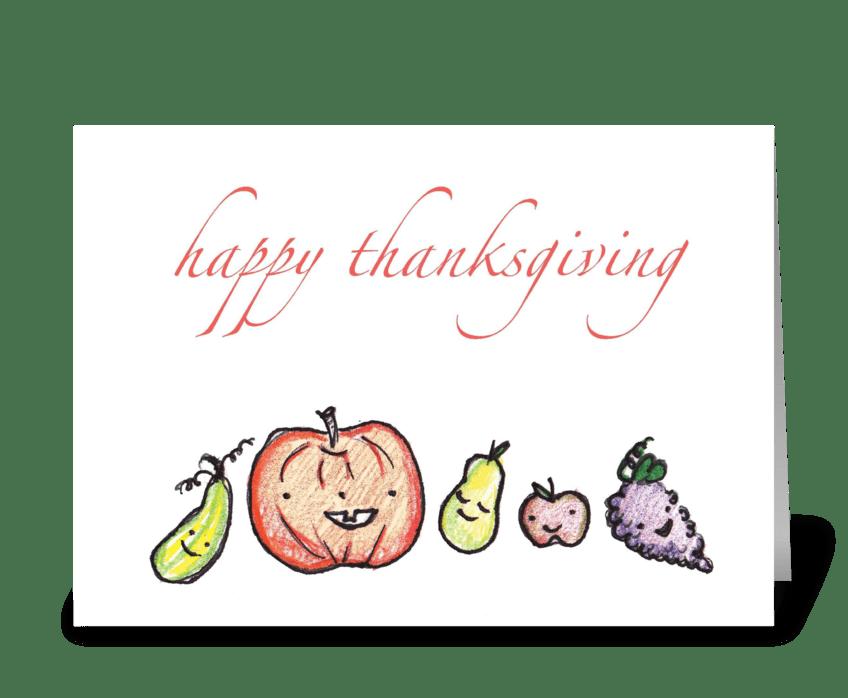 A Cute Harvest greeting card