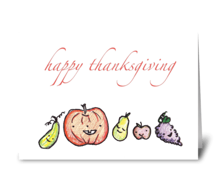 A Cute Harvest greeting card