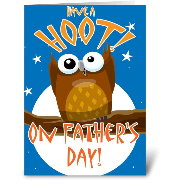 Have a Hoot on Father's Day greeting card