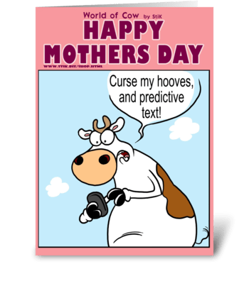 Mother's Day Predictive hooves greeting card