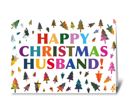 102 Husband Christmas Card greeting card
