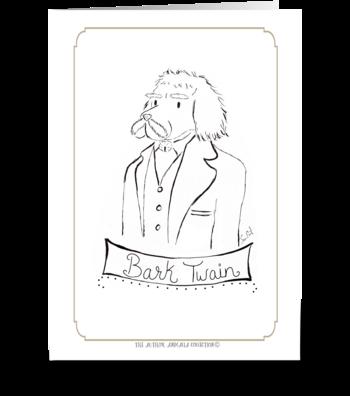 The Author Animalia Collection: Bark greeting card