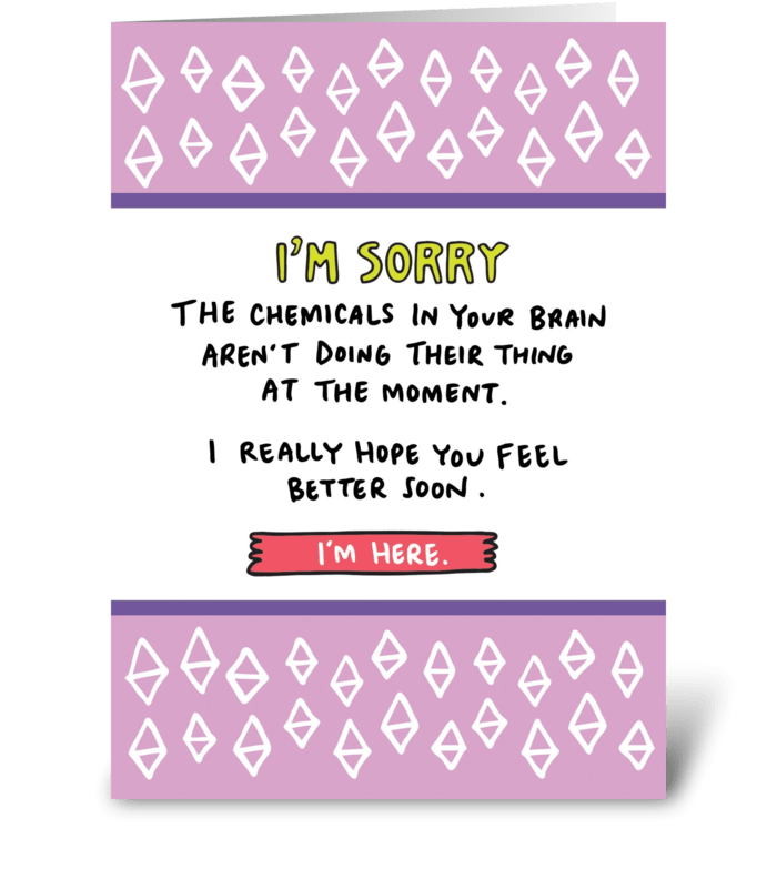 Brain Chemicals  greeting card