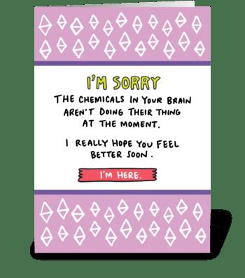 Brain Chemicals  greeting card