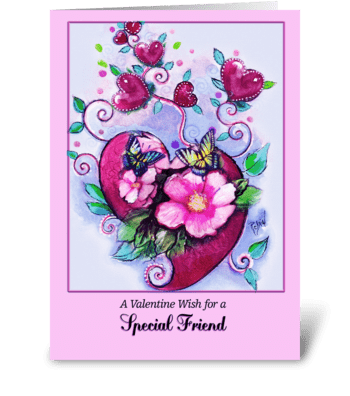 Valentine for Friend greeting card
