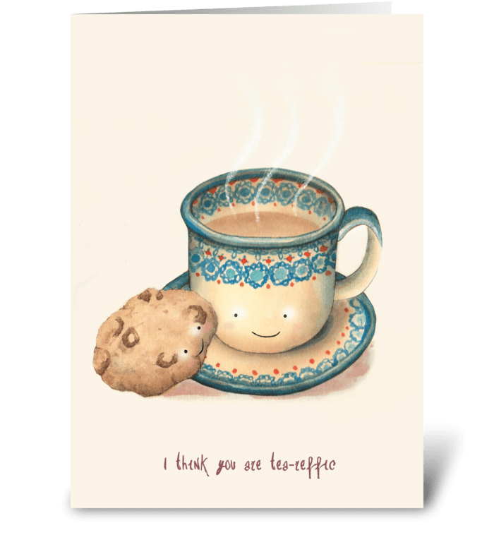 Tea-reffic greeting card