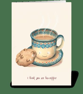 Tea-reffic greeting card