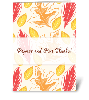 Rejoice and Give Thanks! greeting card