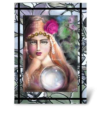 Mysterious Fortune Teller CARD greeting card
