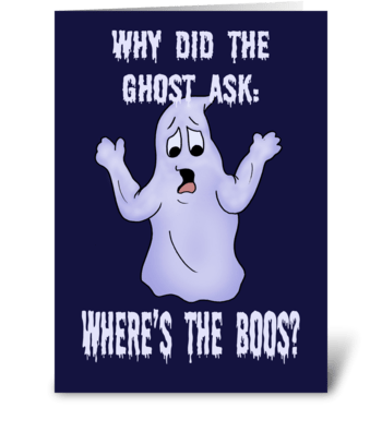 Where's The Booos? greeting card