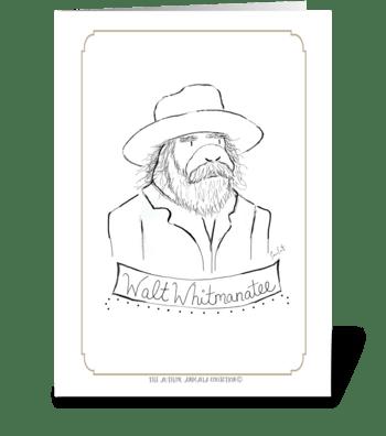 The Author Animalia Collection: Walt greeting card