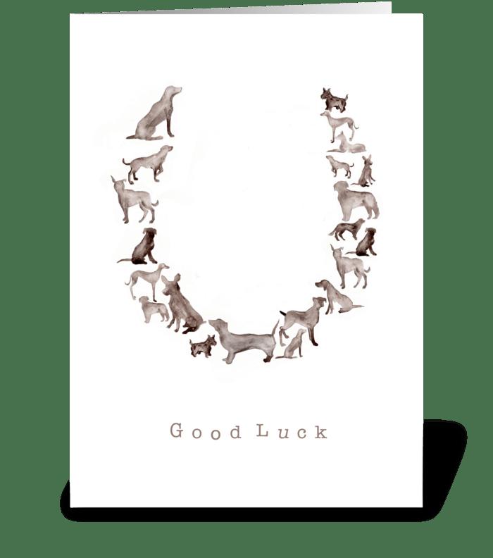 Good Luck greeting card