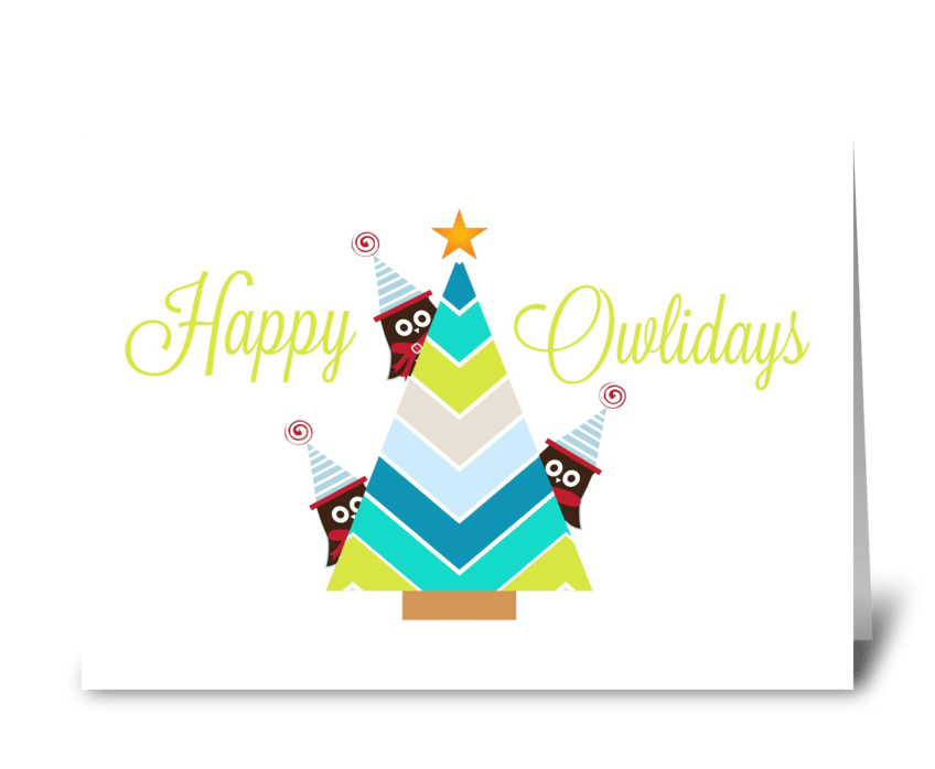 Happy Owlidays greeting card