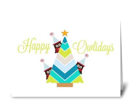 Happy Owlidays greeting card