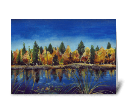 Fall at the Pond greeting card