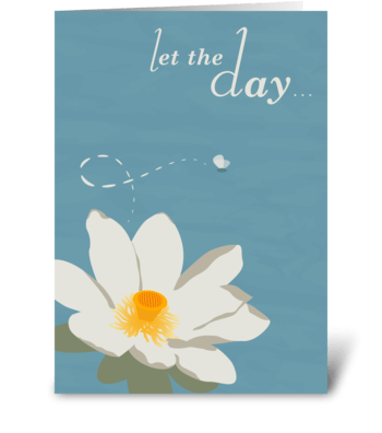 Water Lily - Happy Mother's Day greeting card