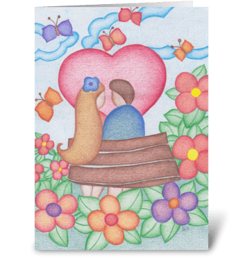 love park greeting card