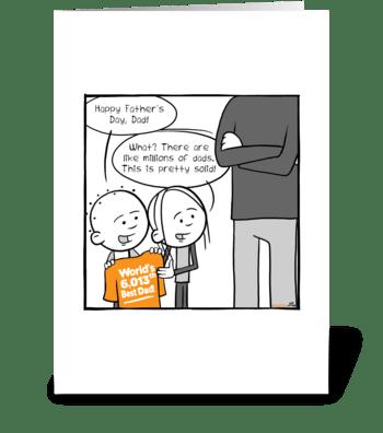 6013th Best Dad! greeting card
