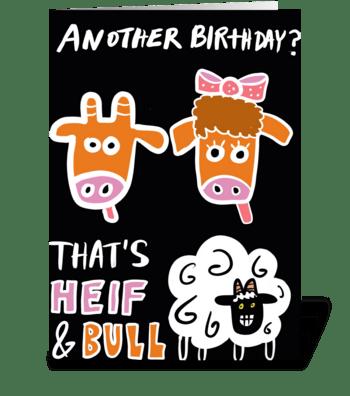 Heif & Bull Sheep greeting card