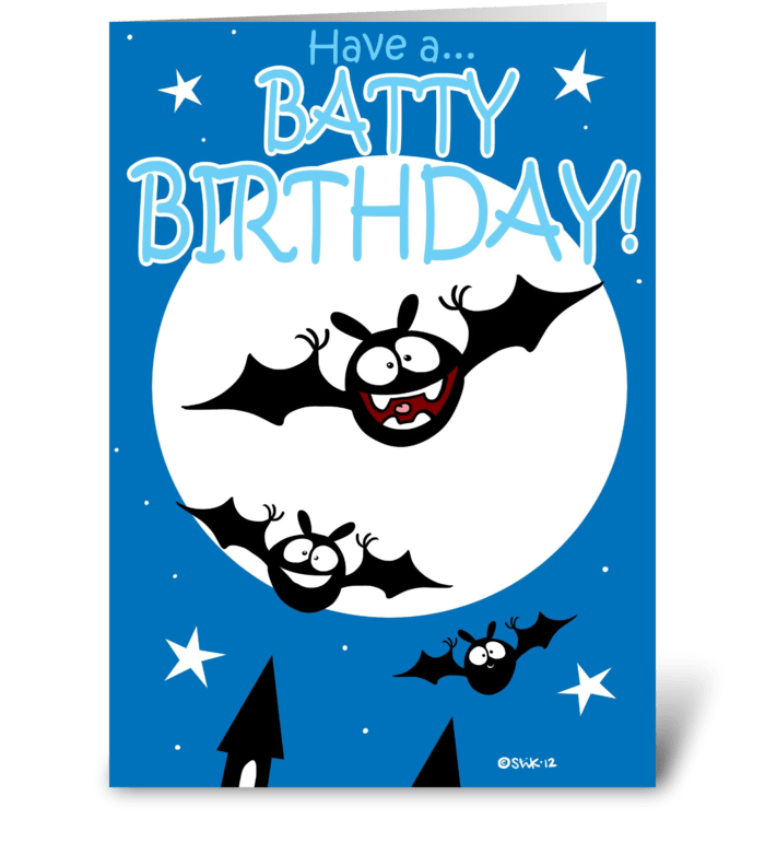 Batty Birthday (With interior art) greeting card