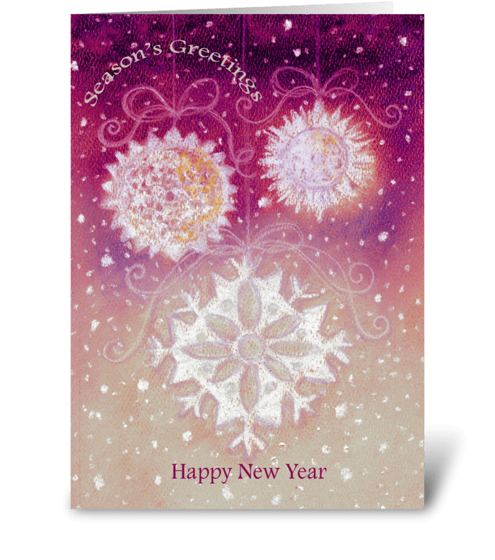 Snowflakes Season's Greetings  greeting card