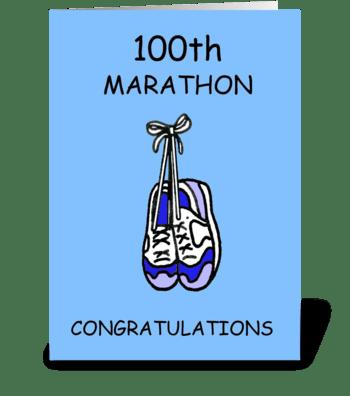 100th Marathon Congratulations greeting card
