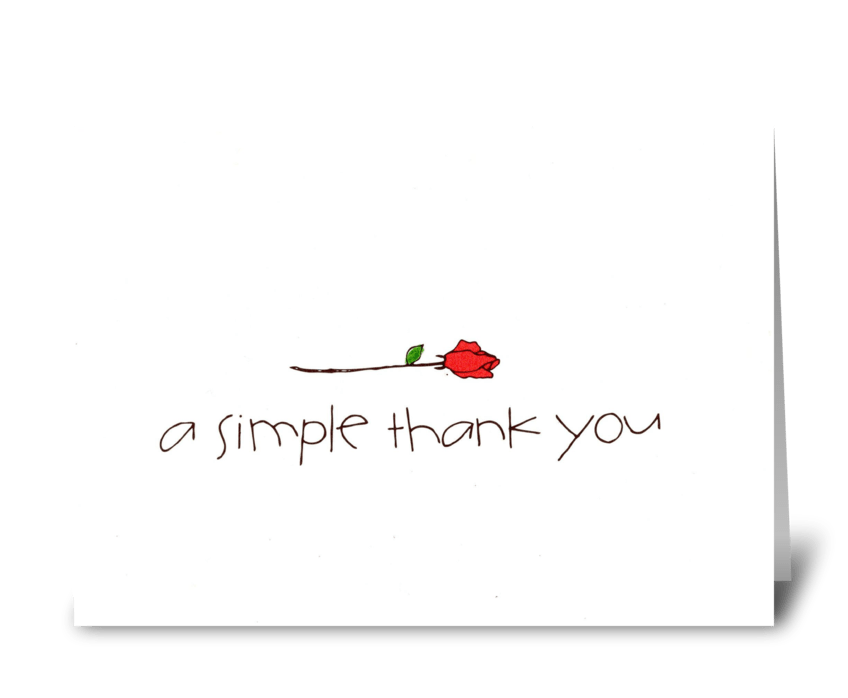 a simple thank you greeting card