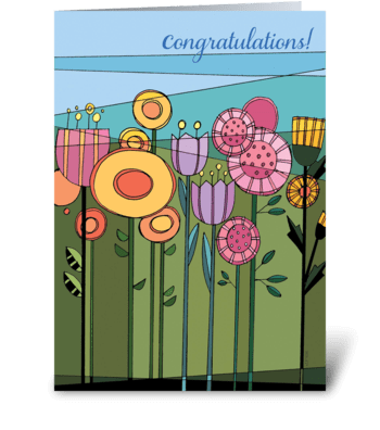 Floral Fetish Congratulations greeting card