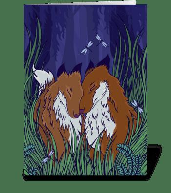 Foxy Love greeting card