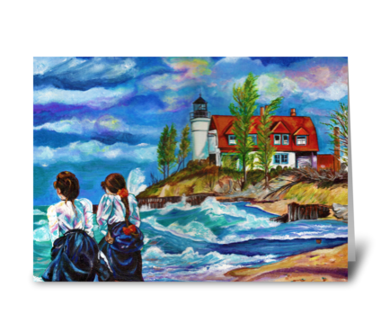 Point Betsie of the Past greeting card
