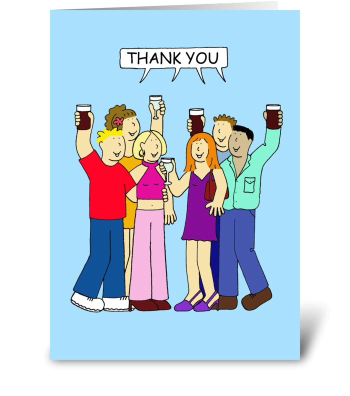 Thank you for the party. greeting card