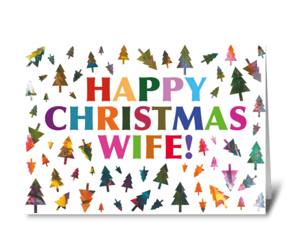 103 Wife Christmas Card greeting card