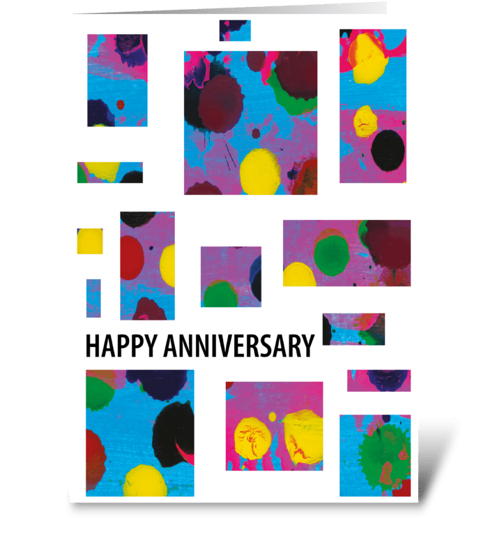 109 Modern Anniversary Card greeting card