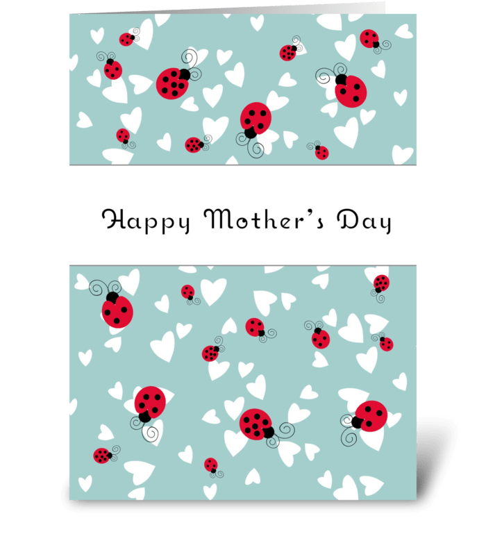 Happy Mother's Day Ladybugs greeting card
