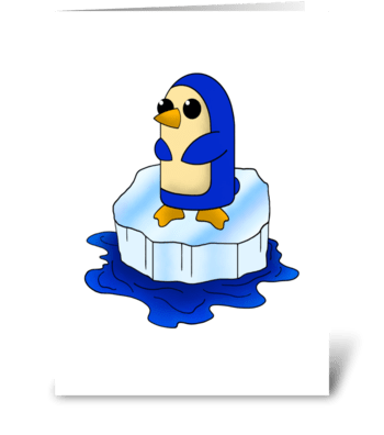 Adorable Baby Penguin greeting card