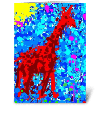 A Giraffe named Riley greeting card