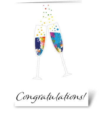 Congratulations Card greeting card