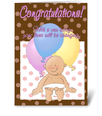 Congratulations Expecting Baby greeting card