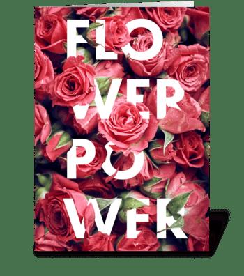 Flower Power – Roses greeting card